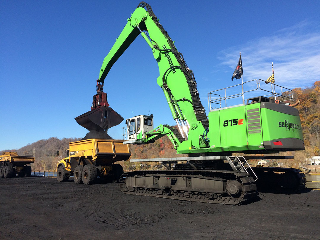 SENNEBOGEN 875 R-HD Is On The Mark For Robindale Energy's Donora Dock Operation