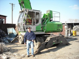Mark Lewon with the latest edition to the Utah Metal Works fleet.