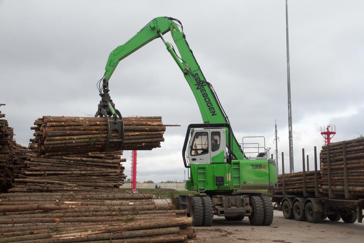 SENNEBOGEN Material Handlers Team Up To Support Russia's Newest Wood Industry