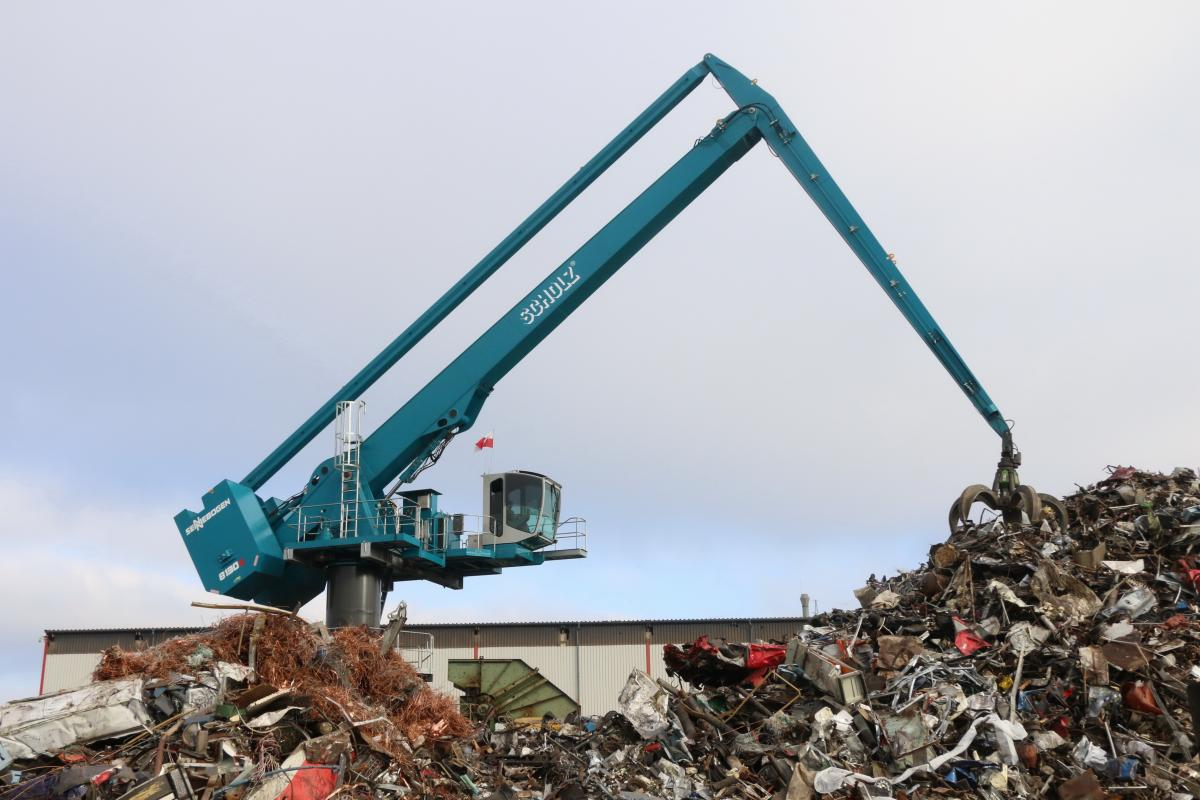 For The New SENNEBOGEN 8130 EQ Material Handler, Scrap Yard Efficiency Is A True Balancing Act