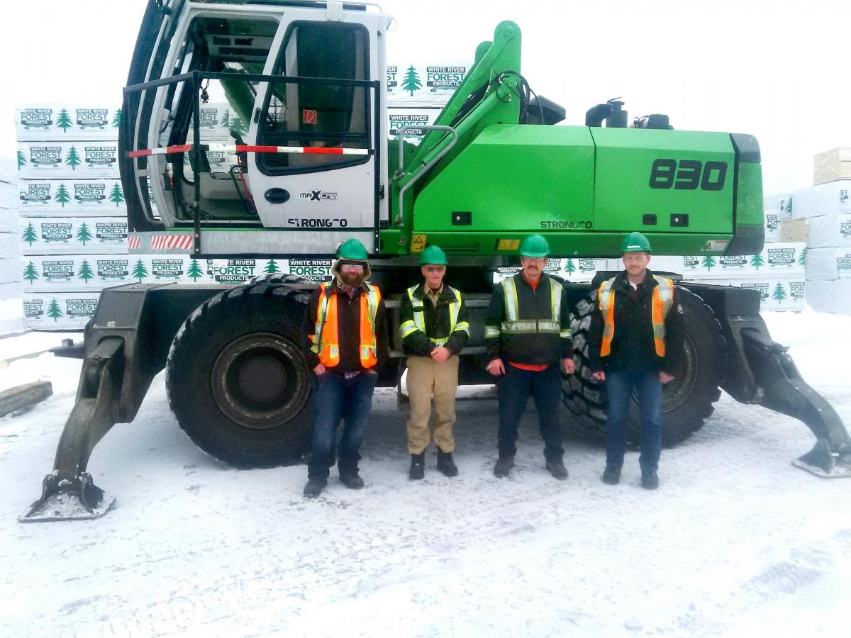 White River Mill Yard Matches New Production Capability With SENNEBOGEN 830 M-T Log Loader