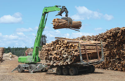 830 M-T log handling machine