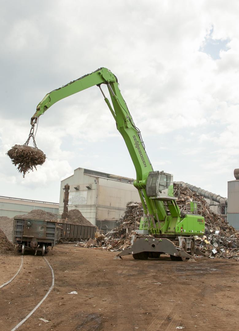 "New SENNEBOGEN 855 M ""Green Hybrid"" Scrap Handler Builds Capacity And Reliability For Nucor's Birmingham Mill"