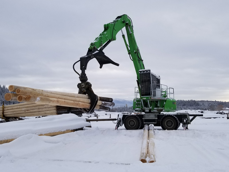"""Uptime Performance of 830 M-T Leaves Stella-Jones with """"No Other Option"""" for Pole-Handling Yard"""