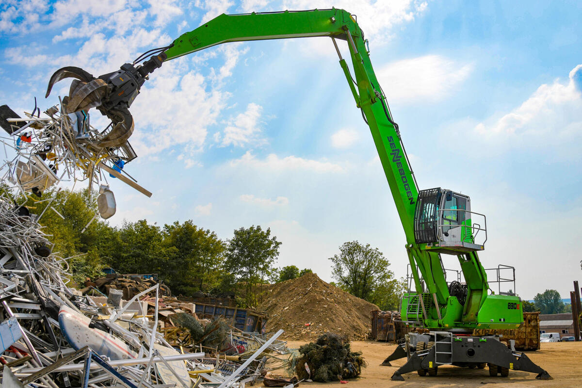 """""""Sustainability"""" Leads Recycling Lives to Another SENNEBOGEN Scrap Handler"""